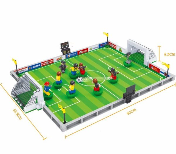 3D Football Field Mini Model Building Blocks Puzzle Toy
